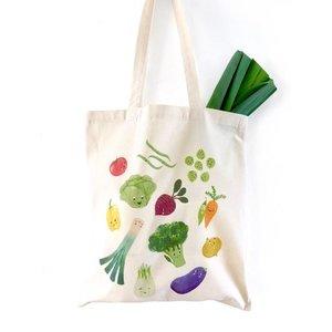 Happy Veggies - Tasje Eco Katoen