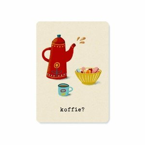 Koffie? - Ansichtkaart