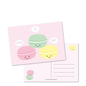 You're so sweet Macarons - Ansichtkaart