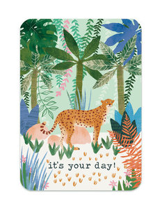 It's your day Cheetah - Ansichtkaart