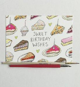 Sweet Birthday Verjaardag Taart Ansichtkaart