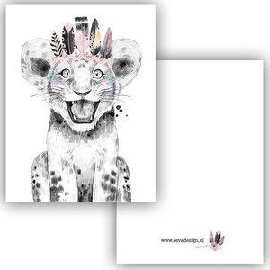 Leeuwtje Roze - Minikaart