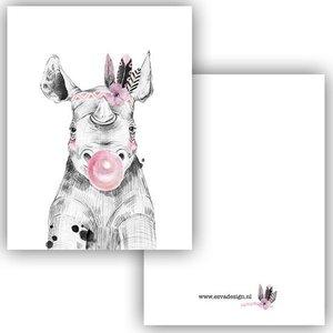 Neushoorn - Minikaart