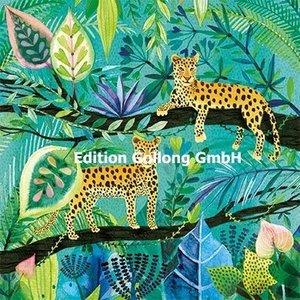 Luipaarden in de Jungle - Ansichtkaart vierkant
