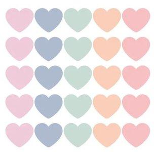 SOW & GROW Hearts cadeaustickers Pasteltinten - Stickers - Set van 10