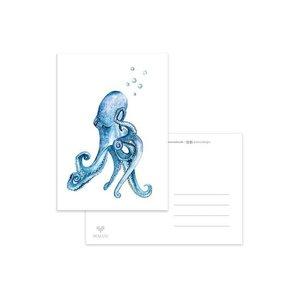 Octopus Bubbels - Ansichtkaart