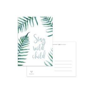 'Stay wild child' - Ansichtkaart