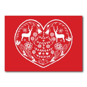 Folk Heart - Ansichtkaart