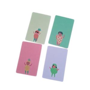 'Foodbabies' - Setje van 4 Kleine Kaartjes