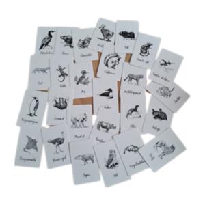 Alfabet Dieren Zwart/Wit - Setje van 26 Kleine Kaartjes