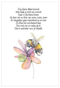 Hommel Gedicht  - Ansichtkaart