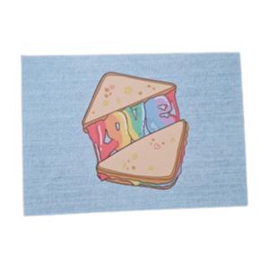 Love Regenboog Tosti - Ansichtkaart