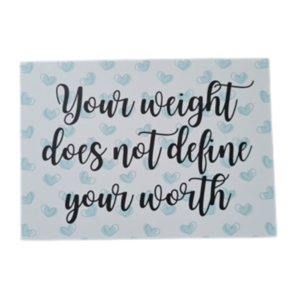 'Your weight does not define your worth' - Ansichtkaart