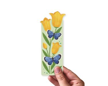 Klokjesbloemen en Vlinders - Boekenlegger