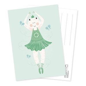 Ballerina Ballet Kikker - Ansichtkaart