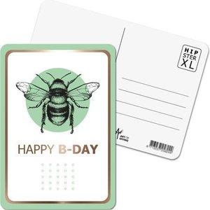 Happy B-Day Bij/Hommel - Ansichtkaart XL