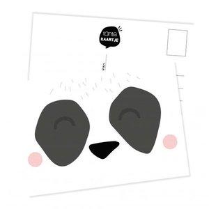 Panda Gezicht - Ansichtkaart