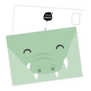 Krokodil Gezicht - Ansichtkaart