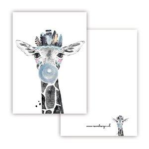 Giraffe Blauw - Minikaart