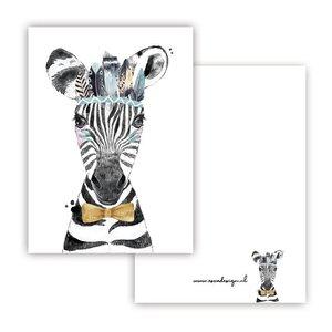 Zebra Blauw - Minikaart