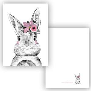 Konijn Roze - Minikaart