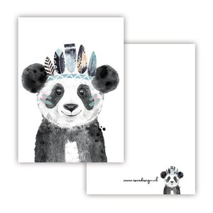 Panda Blauw - Minikaart