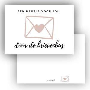 Een hartje door de brievenbus - Minikaart