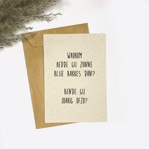 Blije Bakkes - Ansichtkaart met Envelop