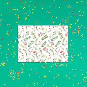 Bloempjes Rood/Roze/Groen - Ansichtkaart