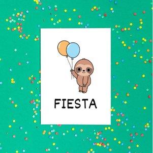 'FIESTA' Schattige Luiaard - Ansichtkaart