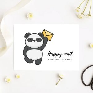 'Happy mail especially for you' Panda - Ansichtkaart