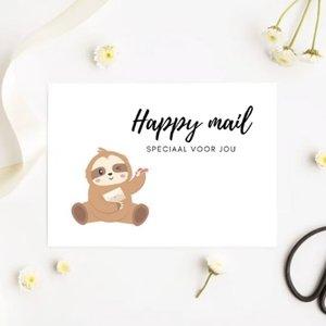 'Happy mail speciaal voor jou' Luiaard - Ansichtkaart