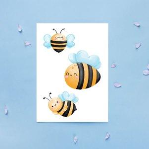 Bijen Hommels Patroon - Ansichtkaart