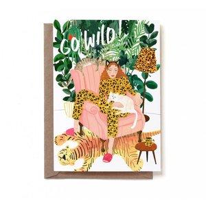 Go wild! It's your birthday! - Dubbele Kaart met Envelop