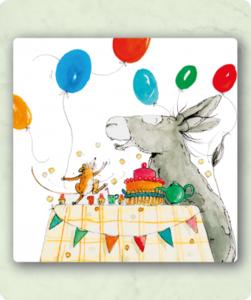 Bout en Moertje Feest - Vierkante Postkaart met Envelop