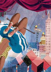 Trapeze Circusstad - Ansichtkaart