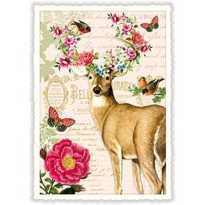 Hert Bloemen - Ansichtkaart