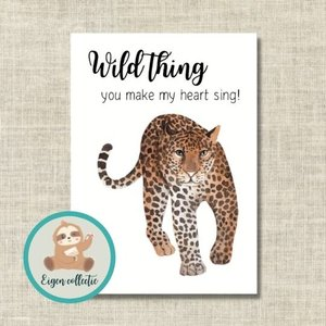 Wild thing you make my heart sing! Cheetah - Ansichtkaart