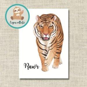 Rawr Tijger - Ansichtkaart