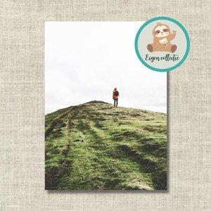 Wandelen op Berg - Ansichtkaart