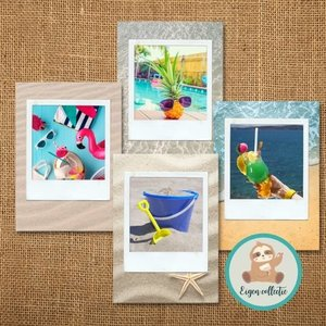 Zomer Polaroid - Set van 4 Ansichtkaarten