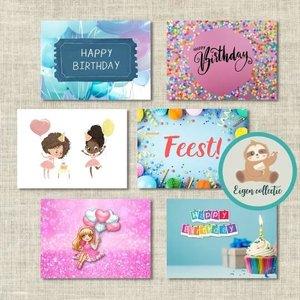 Verjaardag - Set van 6 Ansichtkaarten