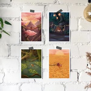 'Op avontuur in de natuur' Beren - Set van 4 Kaarten