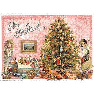 Fijne Kerstdagen! Kerst in Huis - Ansichtkaart