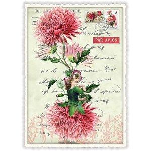 Dahlia Bloemen Fee - Ansichtkaart