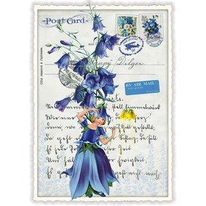 Klokjesbloem Bloemen Fee - Ansichtkaart