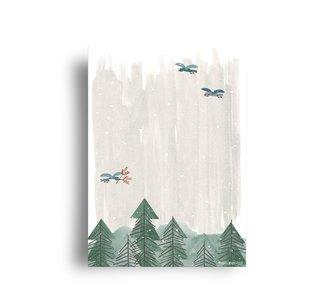 In het Bos Kerst - Ansichtkaart