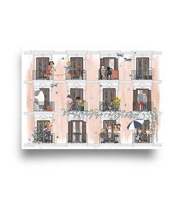 Zomer 'Vier seizoenen' - Dubbele Kaart met Envelop