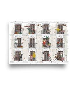 Herfst 'Vier seizoenen' - Dubbele Kaart met Envelop