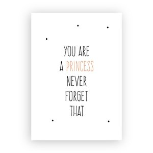 Remember you are a princess - Ansichtkaart met Envelop